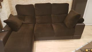 sofá de 3 plazas con chaiselongue eléctrico