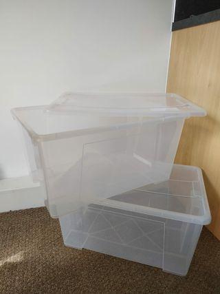 Storage boxes (plastic)