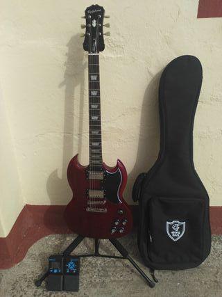 guitarra y pedal