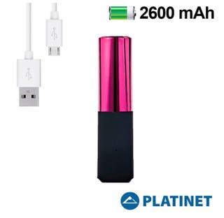 BATERÍA EXTERNA MICRO-USB POWER BANK 2600MAH ROSA