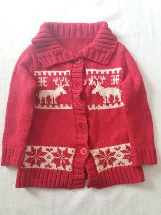 Abrigo de lana,rojo