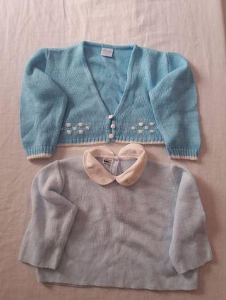 Rebeca y jersey de lana artesana