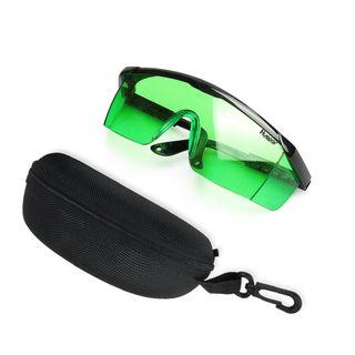 láser verde ajustable protección gafas con Estuche