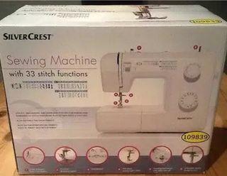 Maquina de coser Silvercrest SNM33B2 nueva.