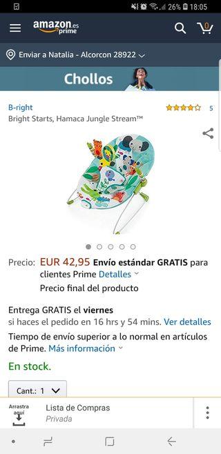 6001b6549 Hamacas para bebés de segunda mano en San Fernando de Henares en ...