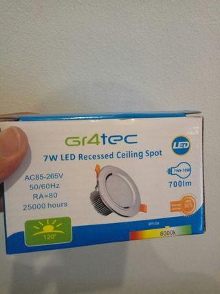 Foco LED redondo 7W 6000k