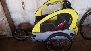 carrito de niño para bicicleta