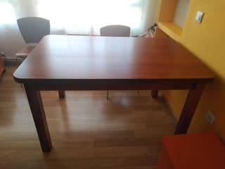 Mesa madera color cerezo