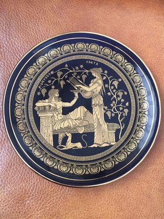 Plato griego decoración