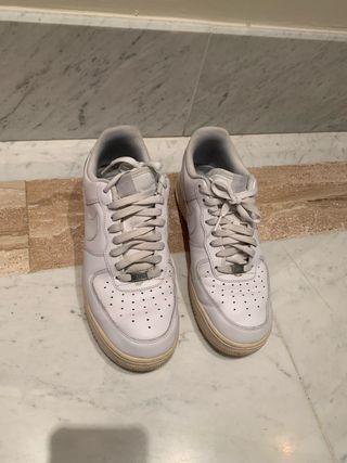 Bambas / zapatillas blancas Airforce 1 hombre