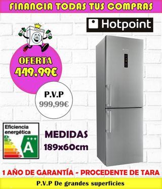 FRIGORÍFICO HOTPOINT A+++ 189x60CM INOX