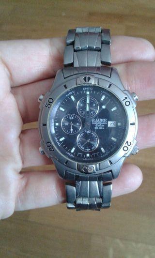 Reloj racer titanium sumergible 100metros, hombre