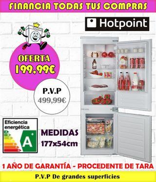 FRIGORÍFICO HOTPOINT PANELABLE A+ 177x54CM