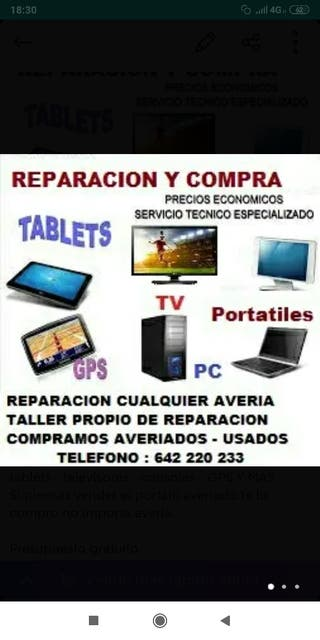 reparación tv, ordenador, portátil MacBook