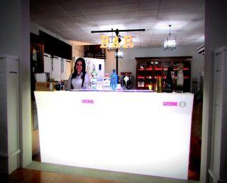 Barras de bar retroiluminadas