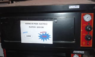 HORNO PIZZA ELECTRICO RUSTICO 6X33 ANTES 1200 E
