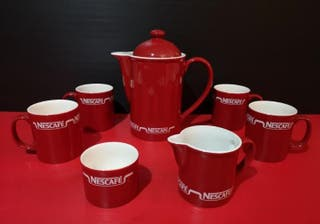 Antiguo Juego de café nescafe Nestlé. Años 70-80