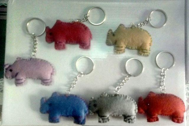 Llaveros rinoceronte