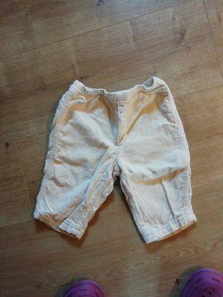 pantalón bebé pana 6-9