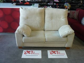 Sofa 2 plazas beige extensible 160 cm