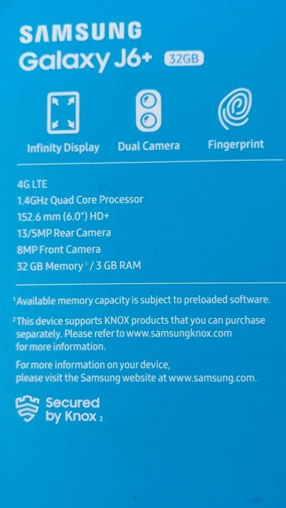 Samsung J6+ original con funda y protector