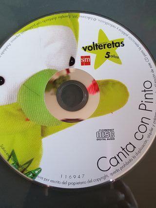 cd musica niños 5 años volteretas canta con pinto