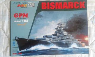 Maqueta de cartón BISMARCK, GPM, 1:200