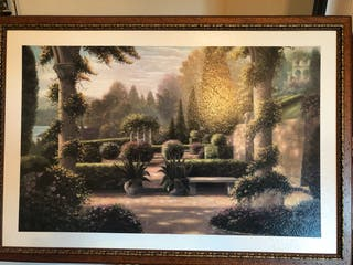 Cuadro con paisaje de jardín