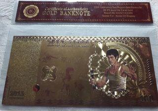 Billete conmemorativo de Bruce Lee