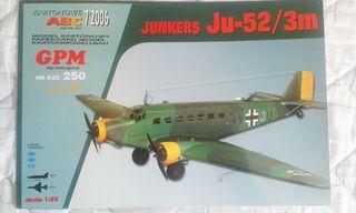 Maqueta de cartón JUNKERS JU-52/3M 1:33