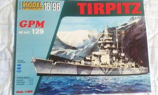 Maqueta de cartón TIRPITZ, GPM, 1:200