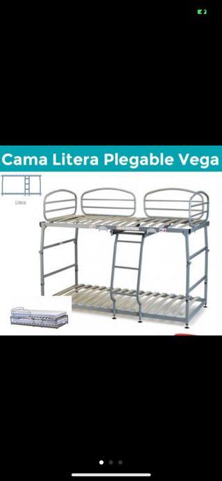Cama plegable vega Pardo. Litera