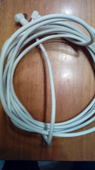 Cable coaxial antena televisión TV sat