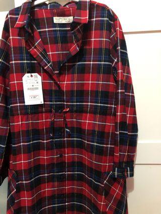 Vestido camisero Zara T.10