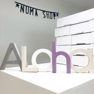 Cartel de madera Aloha