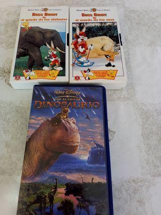 PELÍCULAS 3 VHS INFALTIL