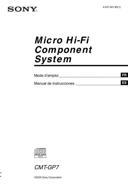 Micro cadena Hi-Fi alta fidelidad SONY CMT-GP7 de segunda