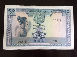 Billete de Laos 10 kip