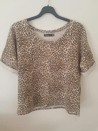 camiseta de leopardo M