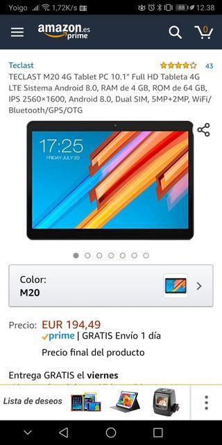 """TECLAST M20 4G Tablet PC 10.1"""" FullHD Tableta 4G"""