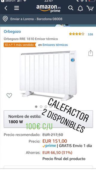 Calefactores electrico