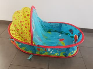 Capazo / cuco bebé playa-piscina plegable