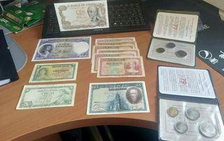lote billetes monedas