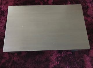 Mesa de centro, negro-marrón, 90x55 cm