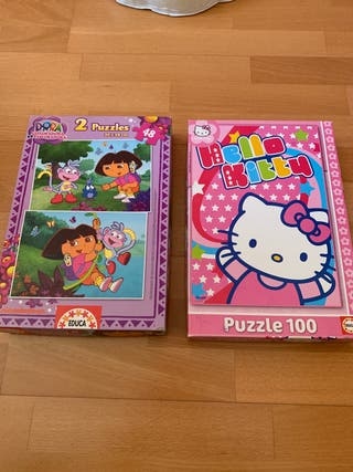 Puzzle hello kitty/ puzzle Dora la exploradora