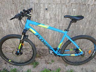 Bicicleta MTB RockRider 520 Azul y Amarillo