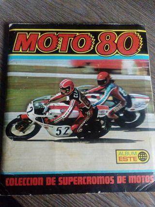 ALBUM CROMOS MOTOS 80