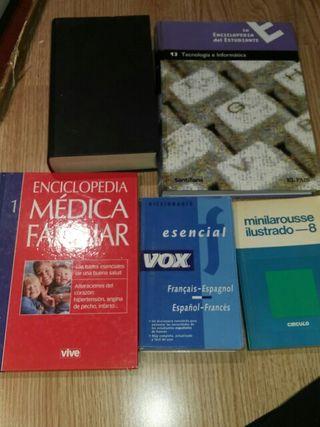 lote enciclopedias diccionarios