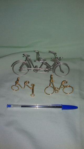 Triciclo + bicicleta + tandem alambre .Vintage