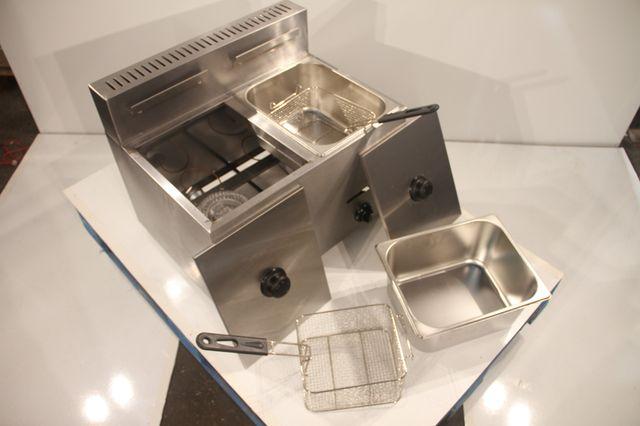 Freidora gas de sobremesa 7l+7l